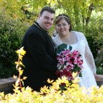 Koren & Kieran on their Wedding day